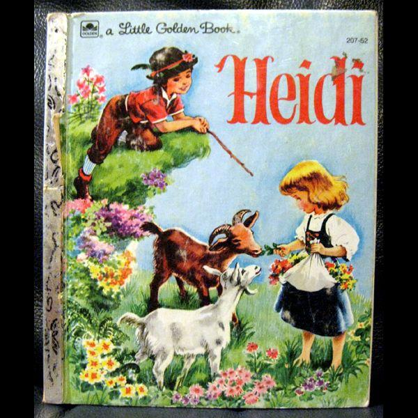 Vintage Little Golden Book Heidi From Openslate On Ruby Lane