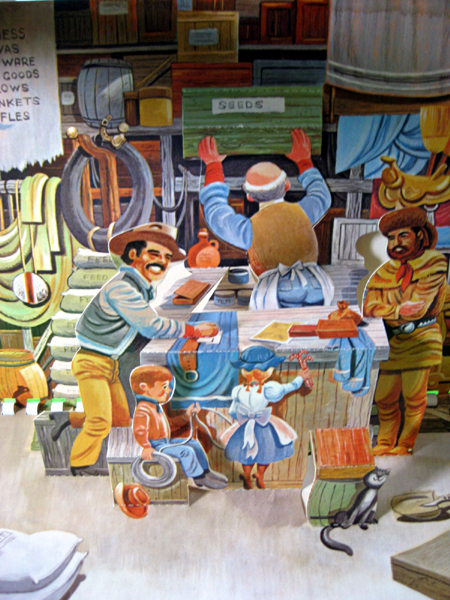 Pop-Up Book Living American Stories - Going West 1962