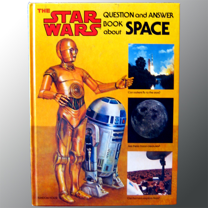 Star Wars Question and Answer Book About Space Vintage Science Book with R2D2 and C3PO Astronomy Space Travel