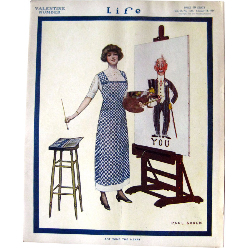 Life Magazine February 12 1914 Paul Goold Cover