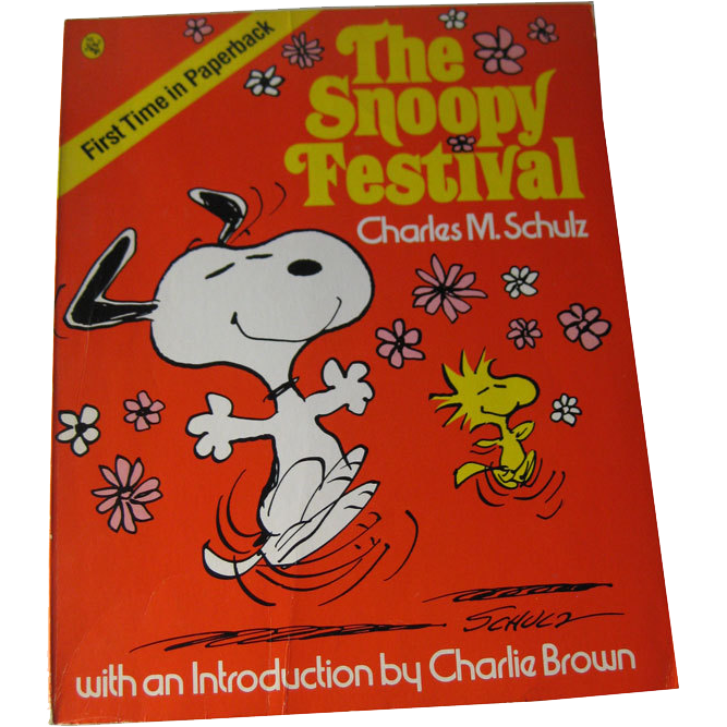 The Snoopy Festival Vintage Book / Snoopy / Charlie Brown / Charles Schultz / Animation / Cartoon / Gift Book