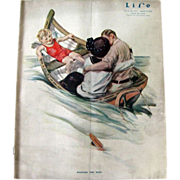Vintage Life Magazine Henry Hutt Cover August 1914 / Turn of The Century Magazine / Vintage Advertising