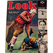 Look Magazine 1937 Football Cover / Vintage Periodical / Vintage Magazine 1930s / Gossip Magazine / Photographic Magazine