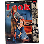 Look Magazine 1938 Pirate Cover / Vintage Periodical / Vintage Magazine 1930s / Gossip Magazine / Photographic Magazine