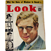 Look Magazine 1938 Duke Of Windsor / Vintage Periodical / Vintage Magazine 1930s / Gossip Magazine / Photographic Magazine