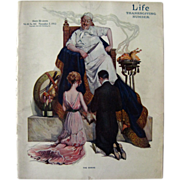 Vintage Life Magazine Paul Stahr Cover November 1912 / Turn of The Century Magazine / Vintage Advertising / Thanksgiving