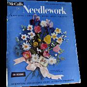 McCalls Needlework Magazine Spring Summer 1955 / Knitting / Crochet / Home Arts / Craft / Pattern Book / Vintage Advertising