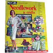 McCalls Needlework Magazine Spring Summer 1964 / Knitting / Crochet / Home Arts / Craft / Pattern Book / Vintage Advertising