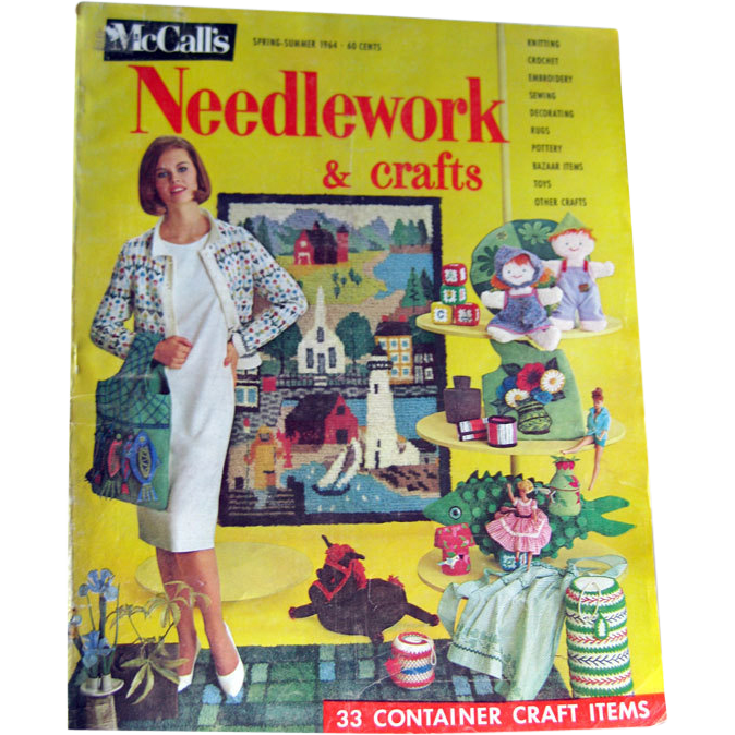 McCalls Needlework Magazine Spring Summer 1964 / Knitting / Crochet / Home Arts / Craft / Pattern Book / Vintage Advertising