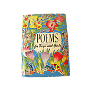 Poems for Boys and Girls Story Hour Series / Marjorie Barrows / Lois Malloy / Illustrated Childrens Book / Gift Book / Fairies / Circus
