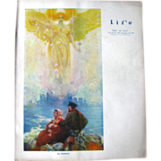 Vintage Life Magazine Edward A Wilson Cover December 18 1913 / Turn of The Century Magazine / Vintage Advertising / Automotive Advertising