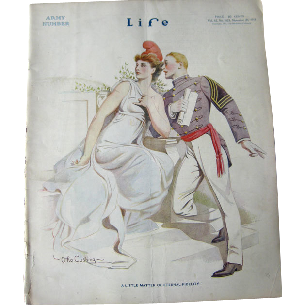 Vintage Life Magazine Otho Cushing Cover November 20 1913 / Army / Advertising / Automotive / Abraham Lincoln