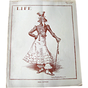 Vintage Life Magazine William H Walker Uncle Sam Cover March 26 1914 / Vintage Advertising / Automotive / Suffrage Movement
