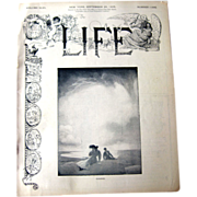 Vintage Life Magazine George W Eggers Cover September 28 1905 / Vintage Advertising / Automotive / William Taft