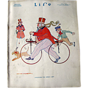 Vintage Life Magazine B Cory Kilvert Bicycle Cover October 5 1911 / Vintage Advertising / Speed Number