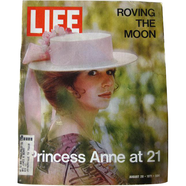 Vintage Life Magazine August 1971 / Princess Anne at 21 Photographic Cover / Vintage Advertising