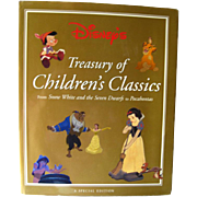 Walt Disney's Treasury of Children's Classics Special Edition / Illustrated Vintage Coffee Table Book / Illustration Art Book