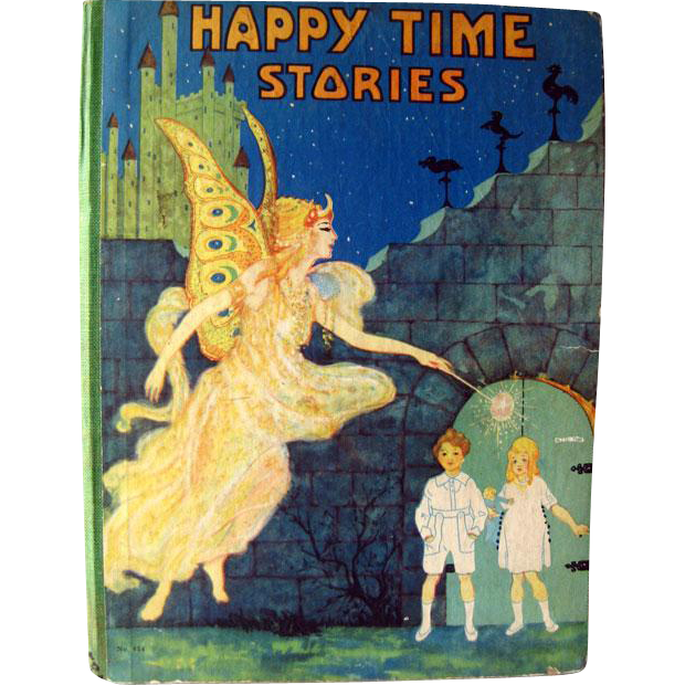 Happy Time Animal Crackers Vintage Childrens Book Illustrated by Fern Bisel Peat 1930s / Illustrated Childrens Book / Story Time Book
