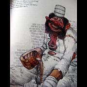 Giants Illustrated by Julek Heller Carolyn Scrace and Juan Wijngaard / Vintage Fantasy Book / Illustrated Book