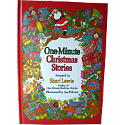 One Minute Christmas Stories Shari Lewis / Illustrated Childrens Book / Gift Book / Read Aloud Book / Holiday Book
