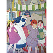 Friends Of Jimmy 1926 Vintage Childrens Book / England / Color Illustrations / Vintage Storybook