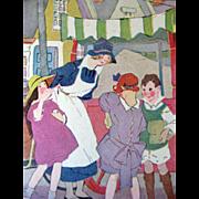 Friends Of Jimmy 1926 Vintage Childrens Book / England / Color Illustrations / Vintage Storybook