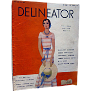 Delineator Vintage Fashion Magazine July 1931 / Midsummer Fiction / Vintage Advertising