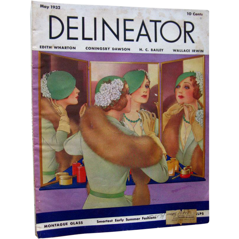 Delineator Vintage Fashion Magazine May 1932 / Edith Wharton Short Story / Vintage Advertising
