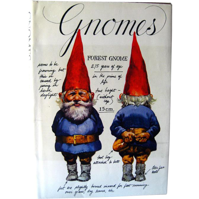 Gnomes Book Signed by Illustrator and Author / Will Huygen / Rien Poortvliet / Leven en werken van de Kabouter / Fantasy Book