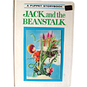 Puppet Storybook Book Jack and The Beanstalk 3D Cover / Illustrated Childrens Book / 1960s Living Storybook