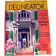 April 1932 Delineator Fashion Magazine Fiction and Fashion / Butte rick Pattern / Vintage Advertising