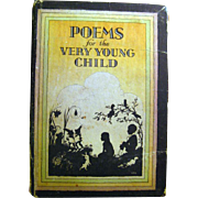 Poems for the Very Young Child With Sillhouette Illustrations / Vintage Childrens Book  / Poetry Book / Fairy Poems