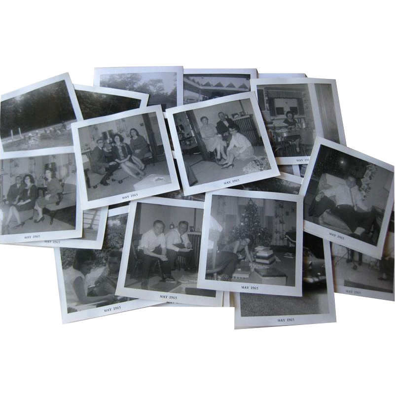 Family Vintage Photographs in Black and White 25 1960s / Scrapbooking Photos /Vintage Ephemera