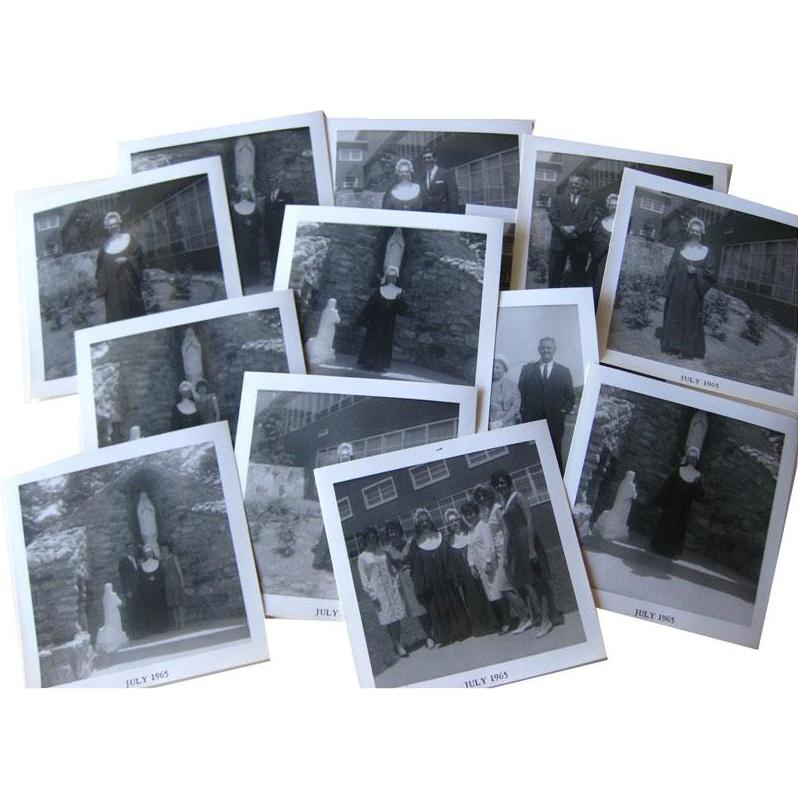 Nuns Ordination Photographs Black and White 14 1960s / Nun Taking Vows /Vintage Ephemera / Scrapbooking Photos