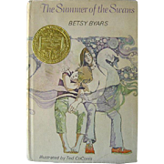 The Summer of The Swans Newbery Medal Vintage Childrens Book by Betsy Byars / Young Adult Fiction / Ted CoConis Illustrator / First Edition