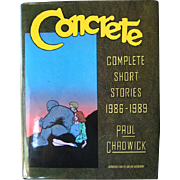 Concrete Paul Chadwick Limited Edition Signed / Complete Short Stories 1980s Art Book / First Edition / Graphic Novel