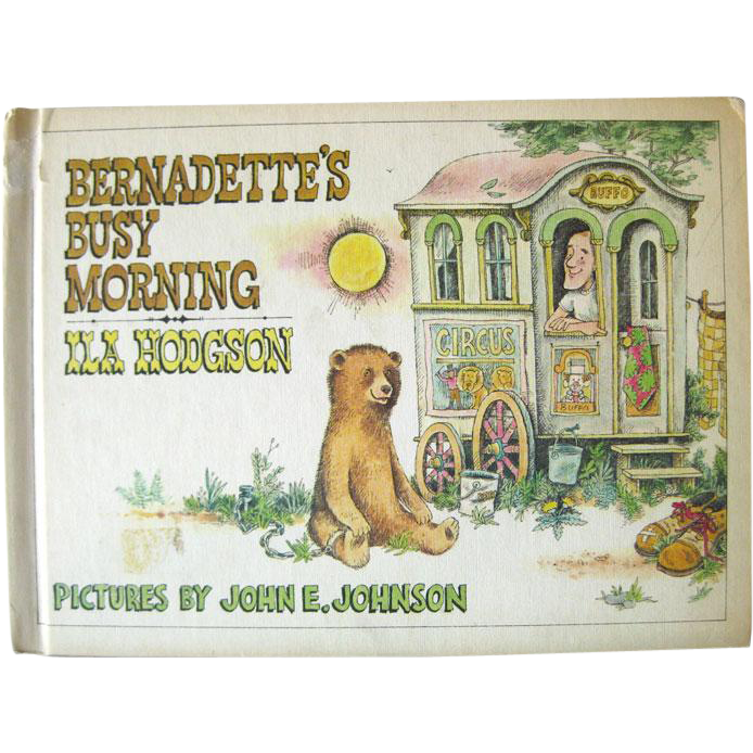 Childrens Literature Bernadettes Busy Morning Vintage Book by Ila Hodgson Illustrated by John Johnson / Parents Magazine Press / 1960s Childrens Book