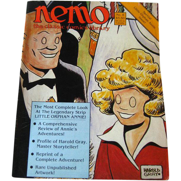 Nemo Classic Comics Library Vintage Magazine / Little Orphan Annie Edition / Unpublished Artwork