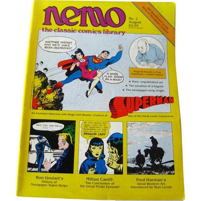 Nemo Classic Comics Library Vintage Magazine Superman Edition Number 2 August 1983 / Superman Comics / Newspaper Comics