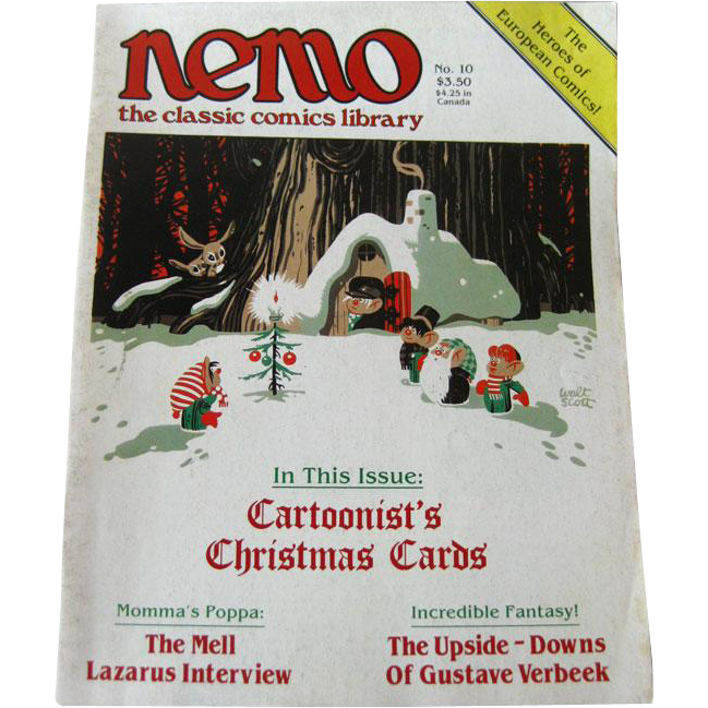 Nemo Classic Comics Library Vintage Magazine Christmas Edition Number 10 December 1984 / Cartoonists Christmas Cards
