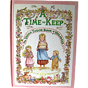 A Time To Keep The Tasha Tudor Book Of Holidays / Childrens Book / Holiday Book / Saalfield / Gift Book / Vintage Illustrated Book