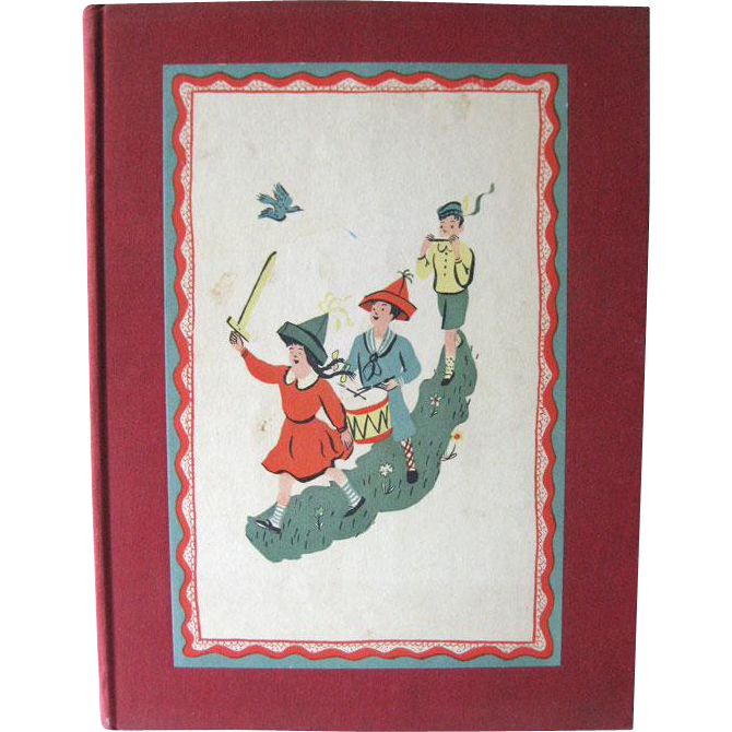 A Childs Garden Of Verses Illustrations by Roger Duvoisin - Rare Childrens Book First Edition - Childrens Illustration - 1944 Heritage Press