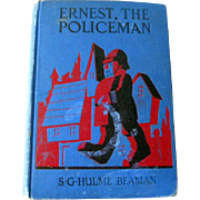 Ernest The Policeman Vintage Chapter Book - Vintage Childrens Illustrated Book - Color Illustrations