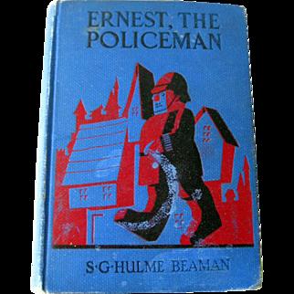 Ernest The Policeman Vintage Chapter Book - Vintage Childrens Illustrated Book - Color Illustrations
