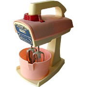 Toy Mixer - Vintage Toy - Vintage Pretend Play - Kitchen Mixer - Miniature Kitchenware - American Doll Kitchen - Battery Operated