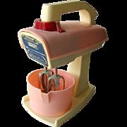 Toy Mixer - Vintage Toy - Vintage Pretend Play - Kitchen Mixer - Miniature Kitchenware - American Doll Kitchen - Battery Operated