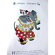 Animal Children Vintage Illustrated Childrens Book - M P Ross Illustrations - 1913 Volland