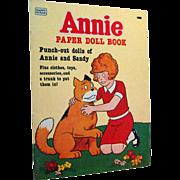 Annie Dolls Uncut by Whitman 1980s - Annie and Sandy Paper Dolls - Vintage Paper Dolls