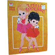 Little Dancers Paper Dolls Uncut by Whitman 1970s - Vintage Paper Dolls