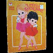 Little Dancers Paper Dolls Uncut by Whitman 1970s - Vintage Paper Dolls
